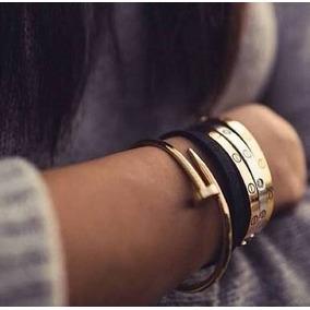 Pulsera Love De Tornillos Con Logo Cartier
