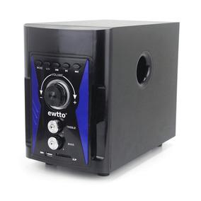 Caixa De Som Rádio 2.1 Ewtto Bluetooth Aux Tv Pc Notebook