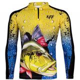 Camiseta De Pesca Proteção Solar Uv King Kff60 Tucunaré