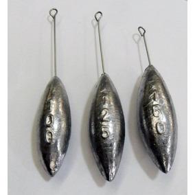 5 Kit 3 Chumbada Pesca Praia 100-125-150 G