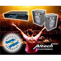 Combo Potencia Altech Xp 1000 Y 2 Bafles 15-300