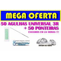 50 Agulhas Universal 3r + 50 Ponteiras P/dermografo Sunshine