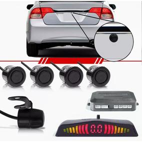 Kit Sensor De Estacionamento 4 Pontos Câmera De Ré Veicular