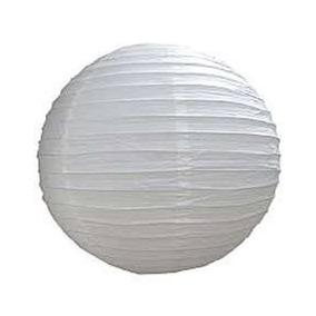 05 Luminária Japonesa Chinesa Branca 30cm Oriental Abajur