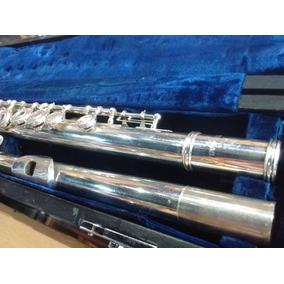 Flauta Traversa Yamaha Yfl26s Llaves Abiertas Usada Garantía