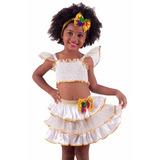 Roupa De Baiana Infantil Fantasia De Carnaval 6 Ou 8 Anos