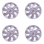 4 Calota Palio Attractive Prata 2012 Fiat Aro 14 + Emblema