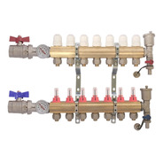 Colector 7 Vías Heat Flow Super Completo-caudal Y Termometro