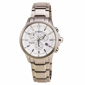 Reloj Citizen Caballero Eco Drive Titanio At2340-56a Wr 100m