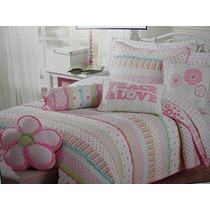 Las Niñas De Color Rosa Y Pasteles Juego De Colcha De Algod