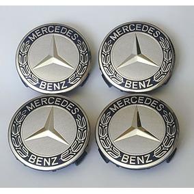 4x Centro Tapón Rin Mercedes Benz Clásicos Azul Envío Gratis