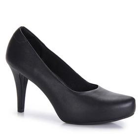 Sapato Scarpin Conforto Feminino Usaflex - Preto