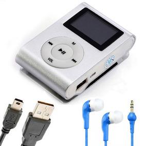 Mini Mp3 Player Shuffle Clip + Cabo Usb + Fone 01 Und
