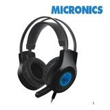 Audífono Gamer Micronics Scorpio Hg813 Led Azul - Vibración