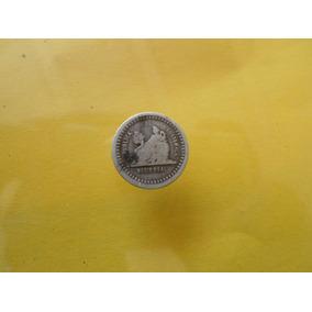 Moneda Antigua 1/2 Real 1880 Guatemala