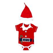 Conjunto Body Y Gorro Papa Noel Bebes Navidad. Regalosdemama