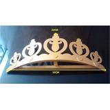 Corona Para Mosquitero O Decoración De 50cm En Mdf Crudo