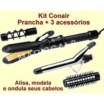 Prancha Chapinha Conair Kit Modelador De Cabelo 4em1 Bivolt