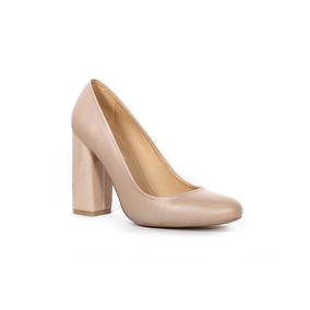 Trender Zapato De Tacon Cuadrado Color Nude