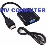 Convertidor Hdmi A Vga Xbox Ps2 3 Laptop Tablet A Tv Monitor