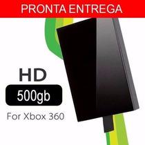 Hd Xbox 360 Slim 500gb Lacrado Novo Pronta Entrega