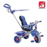 Triciclo Infantil Azul C/ Haste Aro Smartcomfort Bandeirante