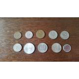 Lote De 10 Monedas Uruguayas