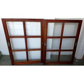 Ventana de madera con postigos aberturas ventanas de for Ventanas de madera mercadolibre argentina