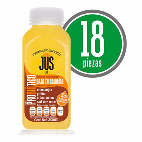 Naranja-piña Probiótico Caja 18 Pza Bebida Cold Press 350ml