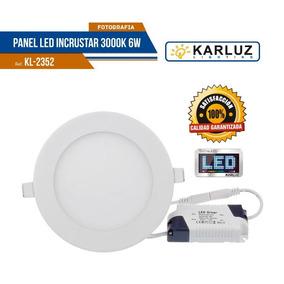 Panel Led Lampara De Techo Redonda 6w Pn 3000k Karluz