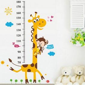 Adesivo Régua Do Crescimento Medir Altura Criança - Girafa
