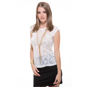Blusa Blanca Encajes Larga Saints Clothes