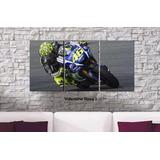 Cuadros - Triptico Valentino Rossi Moto Gp L Total 80x40 Cm