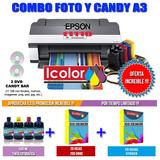 Impresora Candy Bar A3 Epson T1110 + Kit Fotografico + Curso