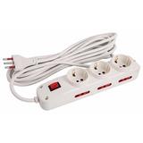 Alargue Electrico 10a Cable 5 M 3 Toma Schuko 5 Tomas 3 En L