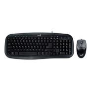 Combo Teclado Mouse Usb Genius Multimedia Km-200 Smart Cable