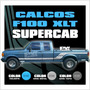 Calco Ford F100 Xlt Cabina Y Media Extendida - Calcomania