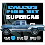 Calco Ford F100 Xlt Cabina Y Media Extendida - Calcomania