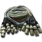 Multicabo Microfones Percussão Bateria 12 Vias 10 Metros Xlr