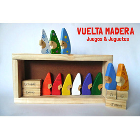 Calendario De Duendes Waldorf Montessori Madera