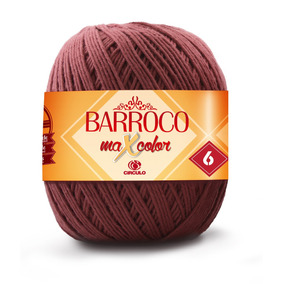 Barbante Barroco Maxcolor 400gr - Kit 6 Unidades