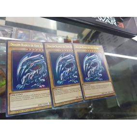 3 Blue-eyes White Dragon Yu-gi-oh Dhl Dragon De Ojos Azules