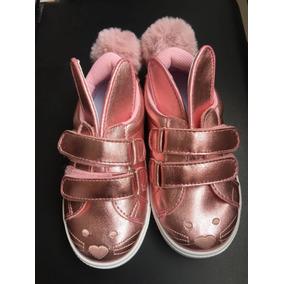Zapatos Niña Modelo Conejito (talla 27 Ecuador)