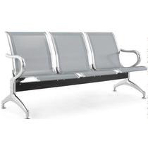 Cadeira Longarina Aeroporto Aço 3 L Consultórios Clínicas Dr