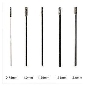Brocas De Diamante Para Perforar Vidrio (1.25mm.)
