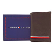 Cartera Tommy Hilfiger Trifold Chocolate Franjas