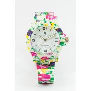 Reloj De Silicona Pineapple Flower