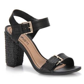 Sandália Salto Feminina Ramarim - Preto