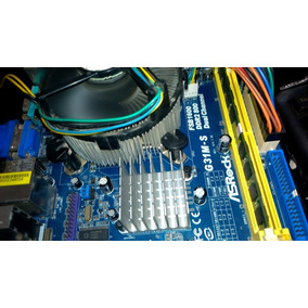 Asrock G31m-s Intel 775 + Cpu E5300 + Fan Intel