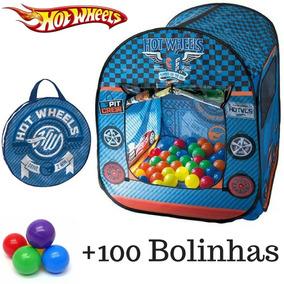 Barraca Hotwheels Toca Casinha Infantil + 100 Bolinhas